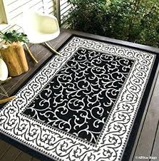 black and white indoor outdoor rug black and white indoor outdoor rug home light weight reversible