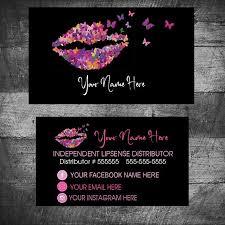 Butterfly Business Card Lipsense Senegence Business Cards Lipsense