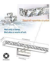Solfart Led Vanity Light Solfart Crystal Wall Mirror Vanity Light Fixtures For Bathroom Led Vanity Lights