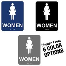 school bathrooms signs. ADA Women Restroom Sign W/ Braille School Bathrooms Signs L