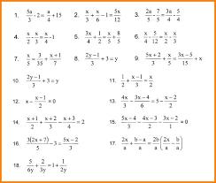 solving linear equations fractions star student worksheet algebra equation worksheets answers jpg