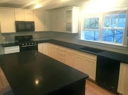 honed black granite leathered