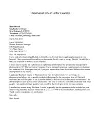 Cover Letter Modern Pharmacist Resume Cover Letter Examples