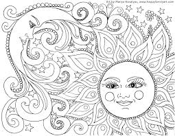 Abstract Coloring Pages Printable For Adults Showing Shapes And New