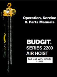 manuals forest park illinois budgithoist budgit air chain hoist series 2200 manual