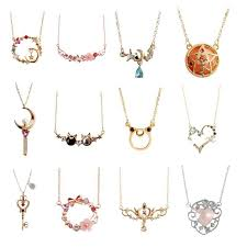 16 styles japanese luna cat pendant angle wing key wand sailor moon necklace