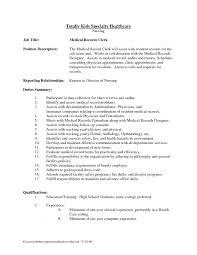 ... Endearing Medical Records Clerk Resume Samples with Additional Resume  Examples Medical Records Clerk ...