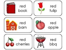 Check simple free printable color flash cards with pictures for teaching colors. 23 Color Red Printable Flashcards Preschool Kindergarten By Teach At Daycare