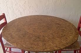 dark maple fitted tablecloth with elastic fits 36inch to 48inch regarding round vinyl tablecloth with elastic