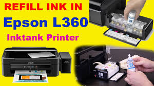 How To Refill Ink In Epson L360 Ink Tank Color Printer Youtube