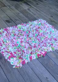 pink and green rug shabby chic rag rug gy rug recycled materials pink green white girls pink and green rug