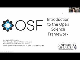 Catholic University Libraries: Introduction to the Open Science Framework -  YouTube