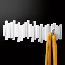 Umbra Wall Mounted Coat Rack Umbra White Sticks MultiHook Rack Wall mounted coat rack Coat 16