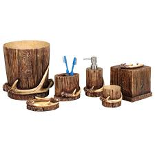 Rustic Moose Bear Bathroom Accessories