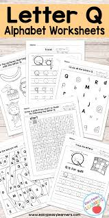 Free Printable Letter Q Worksheets Alphabet Worksheets Series