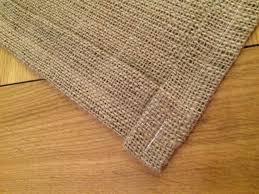 hessian table mat fully hemmed handmade 35cm x 25cm new