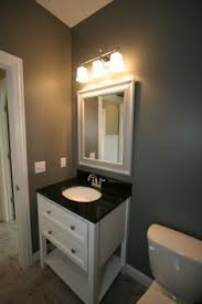 powder room furniture. This Transitional Style Powder Room #vanity Has A #furniture And Creates Timeless Furniture