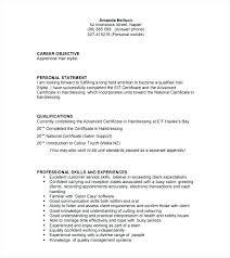 Resume Hair Stylist Example Of Hair Stylist Resume Bezholesterol