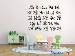 monster alphabet wall decals on alabama vinyl wall art with alphabet monsters graphics vinyl wall decal