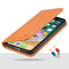 shieldon iphone x wallet case with genuine leather iphone 10 case with magnetic closure