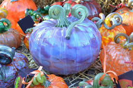 hand blown glass pumpkins in many colors