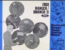 ford bronco manual 1988 ford bronco ii electrical wiring diagrams service shop repair manual ewd 88