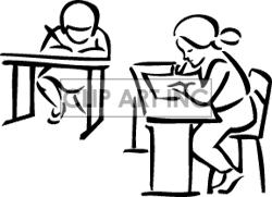 student desk clipart black and white. pin desk clipart school work #5 student black and white
