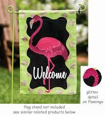 garden flags. Flamingo Welcome Burlap Garden Flag Flags O