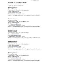 How To Write References In Resume Wonderful 7820 Resumes With References How To Write Employment Recommendation