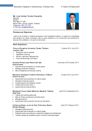 Culinary Resume Sample Best of Gallery Of Resume Example Professional Culinary Resume Templates