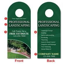 Landscaping Door Hangers Templates Service Print Ads Landscape