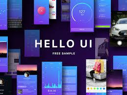 Hello Ui Kit Free Sample Freebie Download Sketch Resource