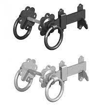 ring gate latch black or galv