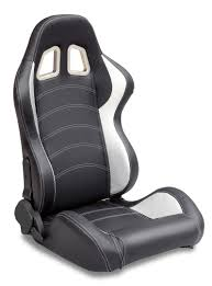 sparco style leather racing sport auto car seats black and white racing seats
