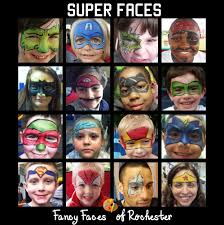 Face Painting Superheroes Design Fancy Faces Of Rochester Super Hero Face Painting