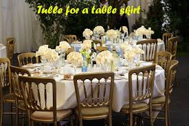 how much tulle for a table skirt