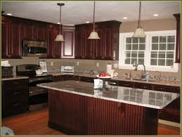 cherry kitchen cabinets. Kitchen, Kitchen Cabinets, Fashionable Cherry Cabinets Wall Color Home Design Ideas With