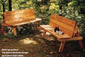 convertible picnic table benches
