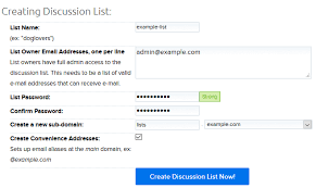 Creating An Email How Do I Create A Discussion List Dreamhost