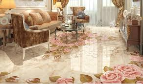 printed wall tiles and floor