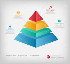 Pyramid Info Chart Graphic For Business Design Reports Step