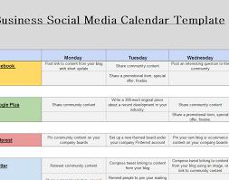Social Media Business Calendar