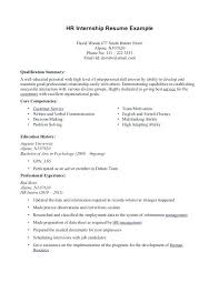 Intern Resume Examples Custom Summer Internship Resume Samples Example Sample Examples