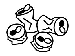 空き缶の白黒イラスト02 かわいい無料の白黒イラスト モノぽっと