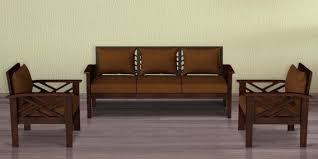 hamilton teak wood sofa set 3 1 1 in gany finish by