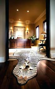faux zebra hide rug animal skin rugs area elegant throughout with regard to idea dining room faux animal hide rugs