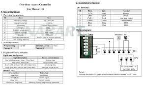 125khz one 1 door rfid card access control keypad support 1000 rfid access control k2000 manual at Rfid Access Control Wiring Diagram