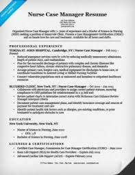 Nurse Case Manager Resume Sample