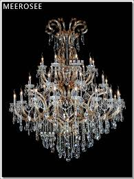 large luxurious hotel maria theresa crystal chandelier lights amber lighting fixture antique hanging lamp with 37 lights md88118