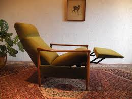 large midcentury recliner chair with high backrest for sale at pamono